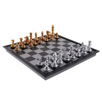 Portable Folding Magnetic Chess Checkers Board Set Travel Game Classic Toys