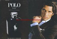 Ralph Lauren Polo Black Fragrance 2006 Magazine Advert #2889