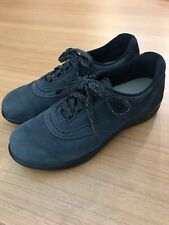 SAS Walk Easy Women's Lace Up Oxford Walking Shoes Blue Suede Size 8 N USA
