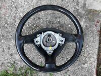 OEM VW MK3 CABRIO 3.5 SPOKE BLACK LEATHER STEERING WHEEL GOLF GTI 93-99 MK3.5