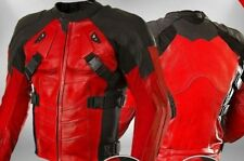 DEAD POOL COMIC MOTORBIKE RACING LEATHER JACKET CE APPROVED