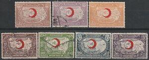 302) TURKEY - OTTOMAN EMPIRE 1928  MAP OVERPRINTED HALF MOON  USED SET PERFECT