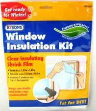 Window Insulation Kit Shrink Fit Double Glazing Film Draught Excluder Frost Cold