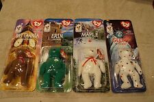 Ty McDonalds 1999 Beanie Babies International Bears Maple Erin Glory Britannia