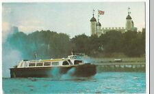 Hoverservices HM2 Hovercraft Passing Tower of London PPC, Unposted, c 1970's