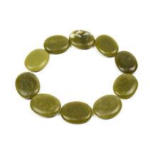 10 Pcs Hot Massage Stone Set Heater Green Jade Warmer Rock Kit 1.18 x 1.57 in