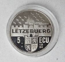 Luxembourg 5 Ecu Token~1995 Marie Therese~Probst L/E5-4~Copper Nickel 22.7g~ UNC