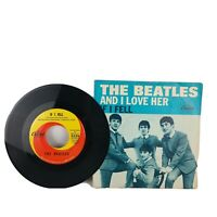 Beatles And I Love Her / If I Fell Capitol 5235 Picture Sleeve 45 Record Rare!