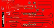 Professor Kelly Chadwick Camaro Nhra Drag 1/32nd Scale Slot Car Waterslide Decal