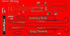 Professor Kelly Chadwick Camaro NHRA Drag 1/32nd Scale Slot Car Waterslide Decal