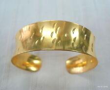 silver bracelet bangle cuff handmade vintage gold vermeil gold gilded sterling