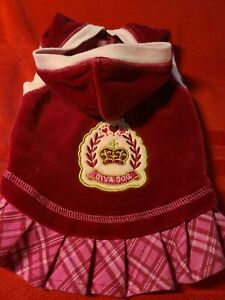 SMOOCHIE POOCH ♡ BURGUNDY AND PINK HOODIE DRESS ♡ SIZE SMALL ♡ SO CUTE