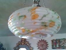 REFRESHING GREEN ORANGE BEEHIVE SPLASH ART DECO CEILING LIGHT PENDANT SHADE