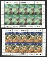 SINGAPORE 2017 INDONESIA JOINT ISSUE CORALS 2 X FULL SHEET OF 10 STAMPS EACH MNH