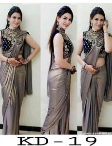 Sari Saree Indian Wear Bridal Traditional Bollywood Ethnic Designer Blouse SV