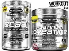 MuscleTech Platinum 100% Creatine 400g + BCAA 200 Caps Muscle Building Stack