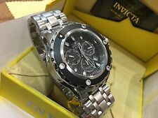 23919 Invicta 52mm Subaqua Swiss Parts Chronograph BLK Dial SS Bracelet Watch