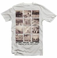 Never Ending Summer Surfing Born form the Sea white t-shirt 9336