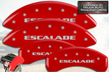 "2007-2020 Cadillac ""Escalade"" ESV Front + Rear Red MGP Brake Disc Caliper Covers"