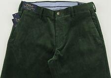 Men's POLO RALPH LAUREN Forest Green Corduroy Pants 36x32 36 32 NWT NEW WOW!