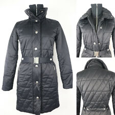 Esprit Women's Quilted Overcoat Jacket with Removable Belt Fully Lined size 8