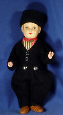 RARE Antique Celluloid DUTCH BOY Doll Orig Outfit Working CRIER MOVES ARMS