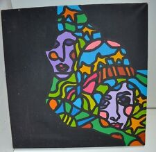Vintage Perry Morgon 1969 Circus Painting  Abstraction Oil