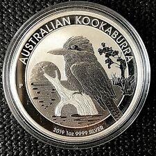 Australian 2019 Kookaburra 1 oz. BU Silver Coin.