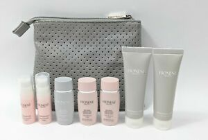 Lot of 7 Honest Beauty Assorted Cleaning Facial Products With Cosmetic Bag