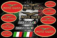 Moto Guzzi Motorcycle Vinyl Decals Stickers Set Autocollant Aufkleber Adesivi