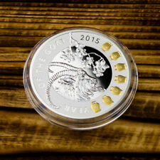 Niue 2015 1$ Year of the Goa with gilded bellst Proof Silver Coin