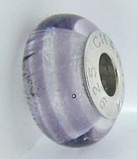 2110-1178 CHAMILIA SILVER TWILIGHT RIBBON CANDY MURANO GLASS BEAD NEW RETIRED