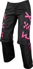 2018 FOX Racing Over the Boot Switch MX ATV Pants Black Pink Women's Size 8
