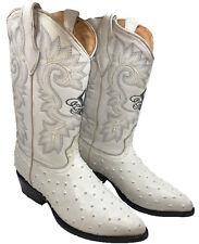a1bc240817c17 Men s Cowboy Boots Ostrich Print Leather Western Rodeo Botas Liga de  Avestruz