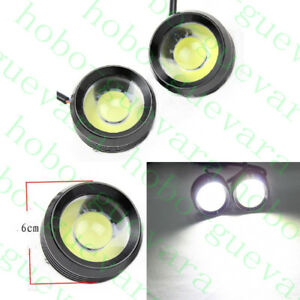 2PCS Car SUV white Eagle Eyes LED Daylight Bulb DRL Fog Daytime Running Light