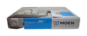 MOEN Banbury 2-Handle Mid-Arc Standard Kitchen Faucet w/ Side Sprayer Chrome