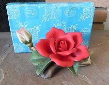Andrea Sadek RED ROSE FIGURINE FLOWER 1996 No. 9665