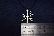 Chi Rho cross alpha and omega Necklace Symbol Constantine cross ring