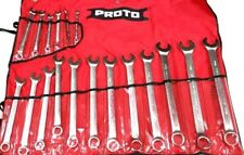 Proto Professional 18 Piece Metric Satin Finish Wrench Set 7-24mm Made USA NEW