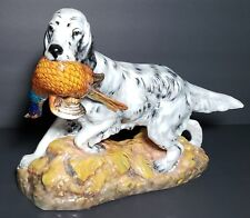 Rare Royal Doulton English Setter In Leaves With Pheasant In Mouth