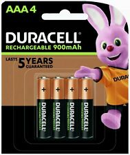 Duracell Rechargeable Batteries AAA 900 mAh (1 Pack of 4) *BRAND NEW & SEALED*