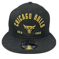 New Era NBA 9Fifty CHICAGO BULLS Black Gold 950 Snapback Hat Cap