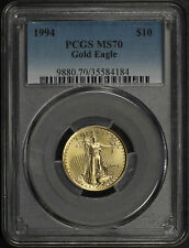 1994 $10 American Gold Eagle 1/4 oz PCGS MS-70