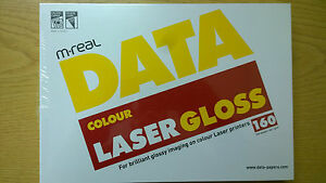 Colour White Laser Gloss 160 gsm Card Glossy Photo Cards 1 Pack 250 CLEARANCE