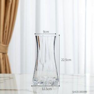 Modern Transparent Glass Vase Home Flower Pot Tabletop Wedding Decoration Gift