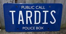 New Doctor Who TARDIS Embossed Metal Tin Novelty License Number Plate Dr Sign