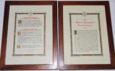 Pair Antique Framed Catholic Latin Mass ALTAR CARDS by Veritas Dublin Chapel 13""