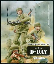 Gambia 2019 MNH WWII WW2 D-Day 75th Anniv 1v S/S Military & War Stamps