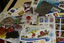 58 Guernsey UK commeorative miniatures of postage stamps