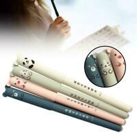 Nice Cute Animal Panda Mouse Erasable Gel Ink Pen 0.35mm Pen School Gel Q0B6